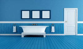 Old style blue bathroom Stock Photo
