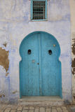 Old style blue door Royalty Free Stock Images