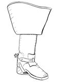 Old style boot with spurs. EPS8 vector Stock Images