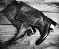 Old style boots Stock Image
