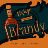 Old style brandy or brandywine poster Royalty Free Stock Photo
