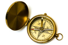 Old style brass compass Royalty Free Stock Images