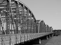 Old-Style Bridge. Profile in Black and white Stock Images