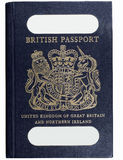 Old style british passport Royalty Free Stock Images