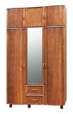 Old style brown wardrobe Royalty Free Stock Photography