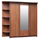 Old style brown wardrobe Stock Images