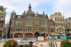 Old style building in historic city centre. Amsterdam, Netherlan Stock Image
