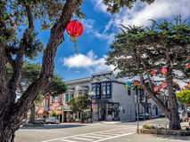 Old style building in Pacific Grove, Monterey, California Stock Photography