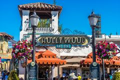 Los Angeles, Hollywood, USA - Diner in the Universal Studios park stock images