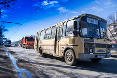 Old Style Bus Public Transport Royalty Free Stock Photo