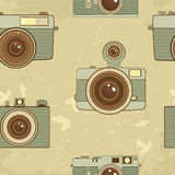Old style cameras background Royalty Free Stock Photography