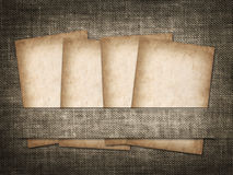 Old-style card on the background of linen Royalty Free Stock Images