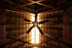 Old Style Ceiling Fan. With Sunlight Royalty Free Stock Image
