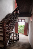Old style Chinese staircase. An old style Chinese staircase Royalty Free Stock Photography