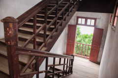 Old style Chinese staircase. An old style Chinese staircase Stock Images