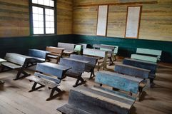 Old style classroom, mining city, Chile Stock Photography