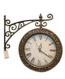 Old style clock. Old style hanging clock with Stock Images