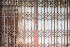 Old style of closed steel door Royalty Free Stock Photography