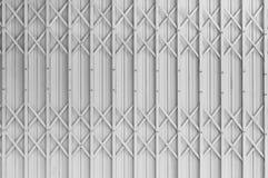Old style of closed steel door Stock Photo