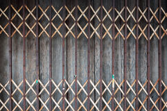 Old style of closed steel door Royalty Free Stock Photo