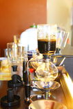 Old style coffee making machine. Stock Photo