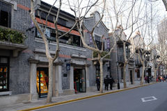 Old style colonial era buildings in the Xintiandi district in Shanghai Stock Photo