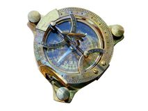 Old style compass top view Stock Photos