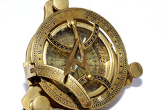 Old style compass on white background Royalty Free Stock Photos