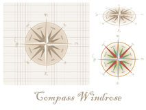 Old style compass wind-rose Royalty Free Stock Photography
