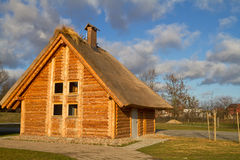 Old style cottage house. In Pruszcz Gdanski - Poland Royalty Free Stock Photos