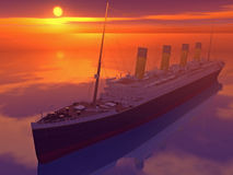Old Style Cruise ship Stock Photo