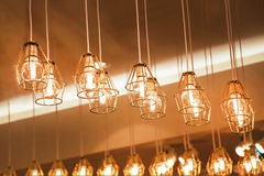 Old style decor hanging lamps Royalty Free Stock Photos