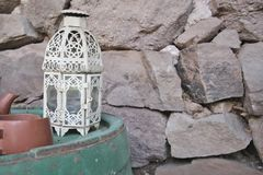 Old Style Decoration With Candleholder. Close up stock photography