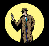 Old style Detective, such as from the fifties. Stock Images