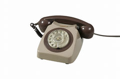 Old style dial telephone Royalty Free Stock Photography