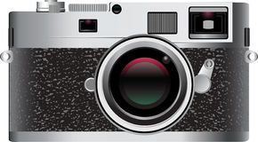 Old-Style Digital camera. This work represents a render of an old-style Photo Camera Stock Photography
