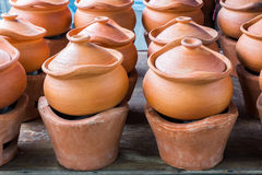 Old style earthwnware Stock Photos
