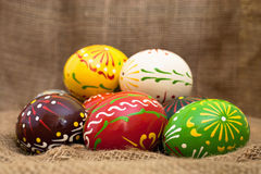 Old style Easter eggs Royalty Free Stock Images