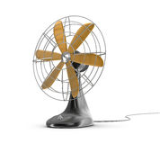 Old style electric fan. Over white Stock Image