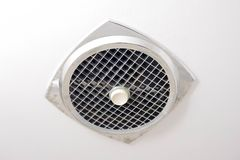 Old style exhaust fan. Of a room for additional ventilation Royalty Free Stock Images
