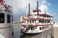 Old style ferries in Savannah, Georgia Royalty Free Stock Photo
