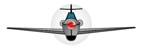Old Style Fighter Aircraft On White. Early WWII fighter aircraft iver a white background Royalty Free Stock Image