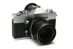 Old style film camera  Stock Image