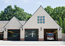 Old Style Fire House Stock Photography
