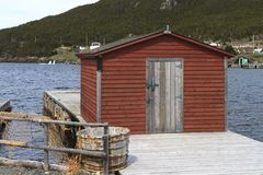 Old style Newfoundland fishing stage royalty free stock photos