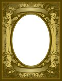 Old style frame. Frame with green background and kaki with ornaments Royalty Free Illustration
