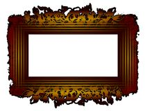 Old style frame. Frame vector green and kaki with ornaments Royalty Free Illustration