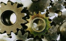 Old style gear machinery Stock Photography