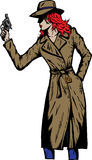 Old style girl detective, such as from the fifties Royalty Free Stock Photos