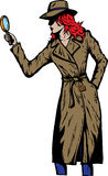 Old style girl detective, such as from the fifties Stock Images